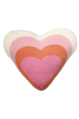 Knit Heart Pillow