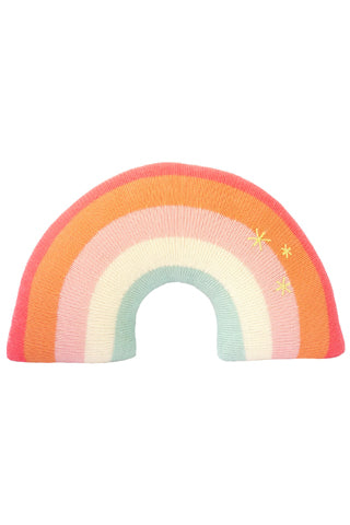Knit Pink Rainbow Pillow
