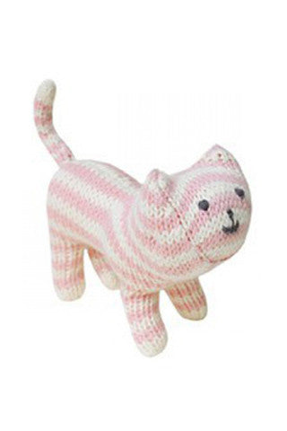 Pink Knit Cat Rattle