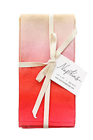 Raspberry Wash Napkin Set/4
