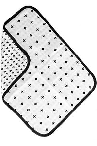 ORGANIC COTTON MUSLIN BURP CLOTH - REVERSIBLE