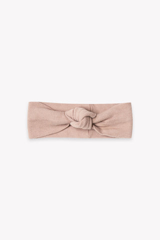 Ribbed Baby Turban | Rose