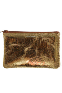 Gold Foil Small Zip Pouch