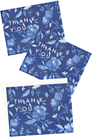 Thank You Indigo Floral Boxed Set