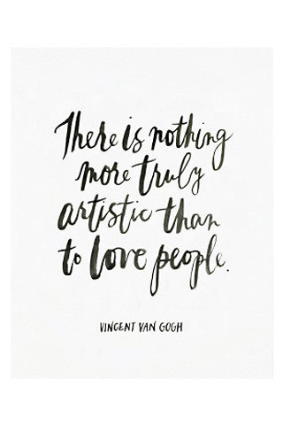 Vincent Van Gogh Quote Print