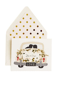 Mr. & Mrs. Vintage Getaway Car Card