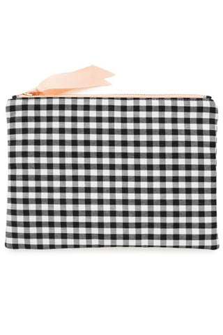 Gingham Fabric Pouch