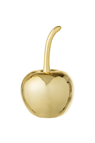 Stoneware Decorative Gilded Cherry