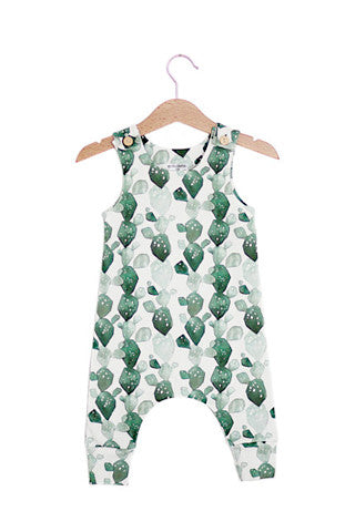 Watercolor Cactus Organic Cotton Romper