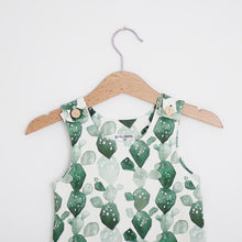 Load image into Gallery viewer, Watercolor Cactus Organic Cotton Romper