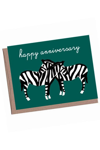 Necking Zebra Anniversary Card