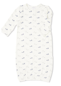 Woodland Grey Baby Fox Henley Gown