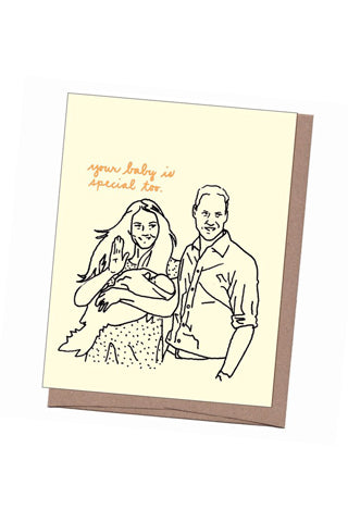 Will, Kate & George New Baby Card