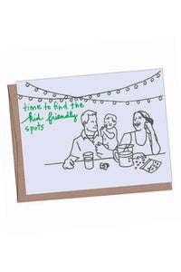 Kid Friendly New Baby Card