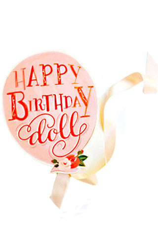 Happy Birthday Doll Card