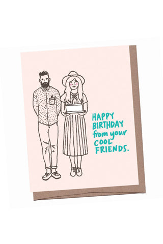 Cool Friends Birthday Card