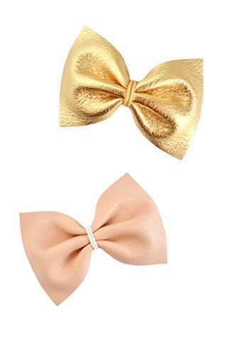 Chantal Leather Bow