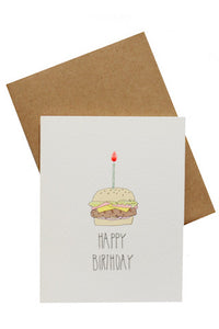 Happy Birthday Burger Card