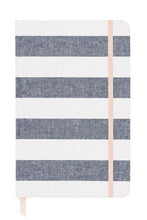 Load image into Gallery viewer, Chambray Stripe Journal