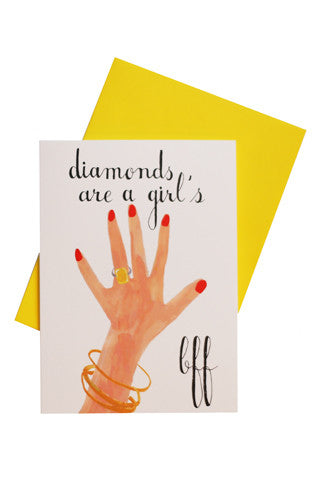Diamonds Are a Girl's BFF Card