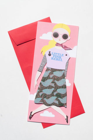 """Pink Little Rebel"" Mailable Paper Doll"