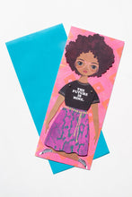 "Load image into Gallery viewer, ""The Future is Mine"" Mailable Paper Doll"