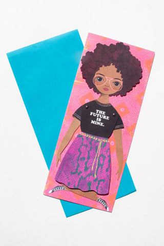 """The Future is Mine"" Mailable Paper Doll"