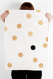 Dotted Black & Bronze Tea Towel
