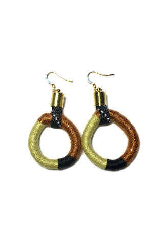 Yellow & Gold Wrapped Earrings