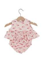 Load image into Gallery viewer, Flamingo Top & Bloomers Set