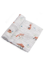 Load image into Gallery viewer, Foxes Cotton Muslin Swaddle