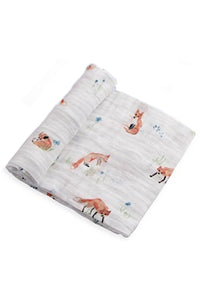 Foxes Cotton Muslin Swaddle