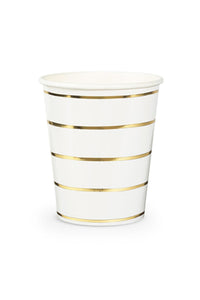 Frenchie Striped Gold Cups Set/8