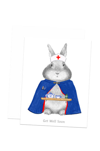Nurse Bunny Get Well Card
