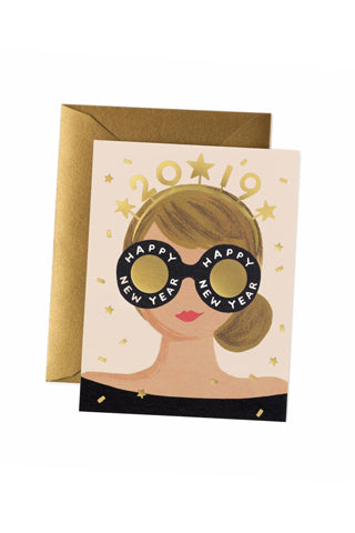 2019 New Years Girl Card
