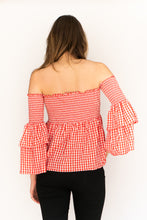 Load image into Gallery viewer, Smock & Roll Gingham Top