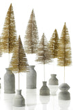 Champagne Glitter Brush Tree