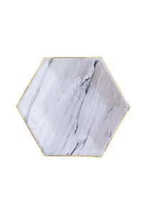 Goddess Marble Hexagon Small Party Plates