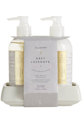 Grey Lavender Hand Wash & Lotion Set