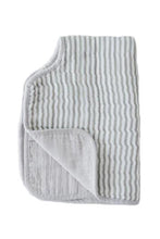 Load image into Gallery viewer, Grey Stripe Cotton Muslin Burp Cloth