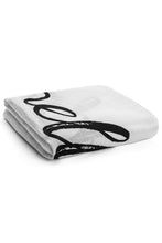 "Load image into Gallery viewer, Organic Muslin Swaddle Blanket - ""Hello World"""