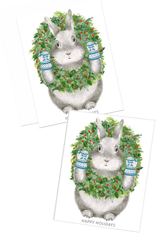 Bunny with Wreath Boxed Set