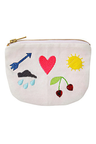 Icons Canvas Pouch