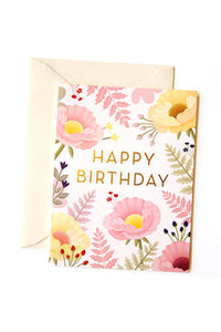Oriental Poppy Birthday Card