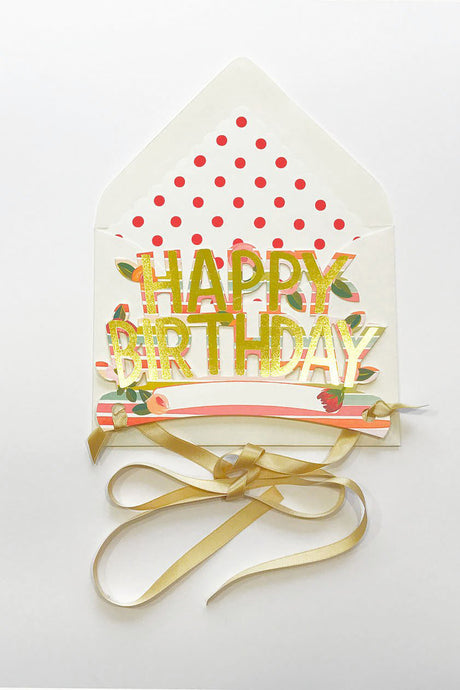 Wearable Happy Birthday Crown | Stripes