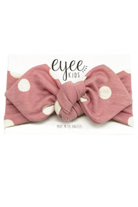 Blush Dot Top Knot Headband
