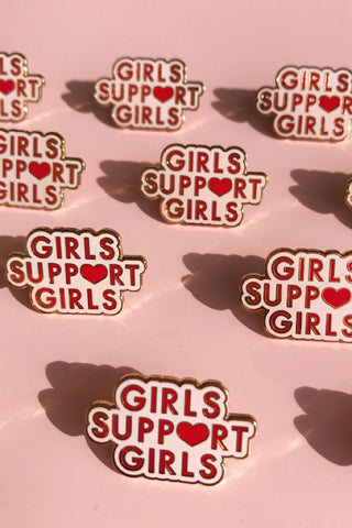 Girls Supporting Girls Enamel Pin