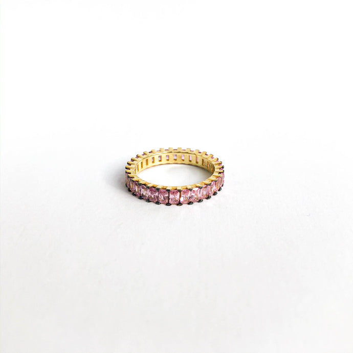 Baguette Stackable Ring | Pink