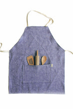 Load image into Gallery viewer, Indigo Linen Kids Apron
