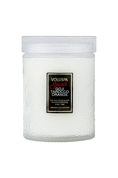 Voluspa Small Embossed Glass Candle Jar
